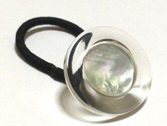 イタリア 世界の飾りボタン ヘアゴム クリアー シェル [mazh-123]]の画像