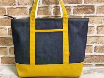 黄帆布トートバッグLサイズの画像
