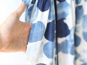 【受注製作】秋のワンピース 淡いカラー ワンピース ゆったり ロング 花柄 青 SW720の画像
