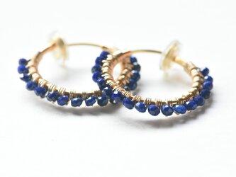 [EC] Lapis lazuli《M》Basic Hoop Ear Clipsの画像