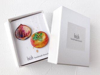 栗と柿ブローチ(ギフトセット)の画像