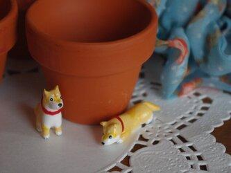 ●オーダー品●柴犬のちっちゃい置物の画像