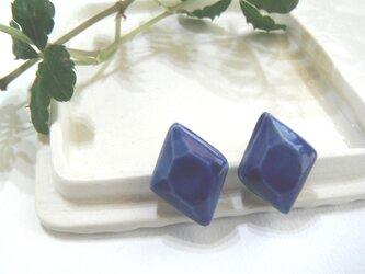 jewel cut ピアス(hishigata 青)の画像