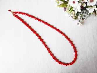 14kgf 赤珊瑚のネックレスの画像