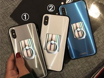送料無料 オリジナルバンカーリング iPhoneケース iPhone8/7/ 7+/8+/Xの画像