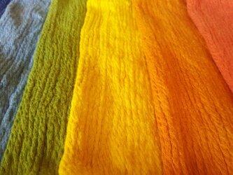 【受注生産】こども草木染めチャクラ腹巻/シルクコットンやみつきボディウォーマーの画像