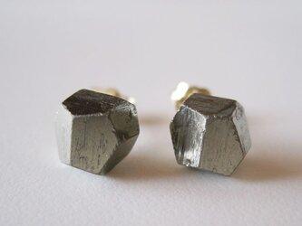 パイライトの原石ピアス/Pyrite 14kgfの画像