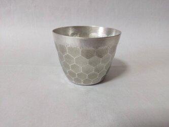 再販: 純銀/酒器 おちょこ 亀甲紋(オーダー制)の画像