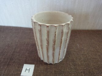 白化粧植木鉢Hの画像