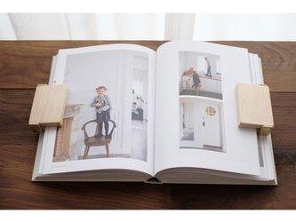 【送料無料】真鍮とメープルのブッククリップ 2個セットの画像