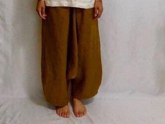 sarrouel-pants/camel linenの画像