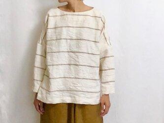 pullover/border linenの画像