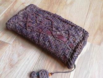 山葡萄の蔓で編んだ長財布【2】・ストラップ付の画像