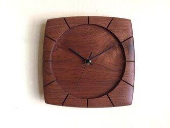 """掛け時計 """"sikkuru"""" ウォールナット ※受注製作の画像"""