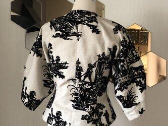 ツボミ膨らむお袖のジャケット joe   フランス製ビンテージリネン◆1点物◆ の画像