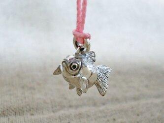 根付チャーム『ピンポン金魚』銀製(シルバー925)の画像