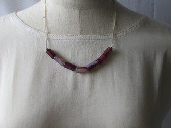 チューブアメジストのネックレス  の画像