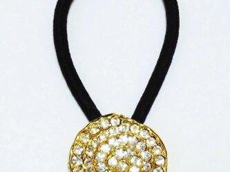 イタリア 世界の飾りボタン ヘアゴム スピラーレ ゴールド[maz-088]の画像