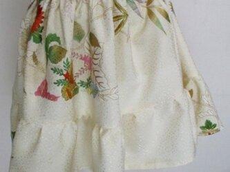 送料無料 花柄の振袖で作ったミニスカート 3733の画像