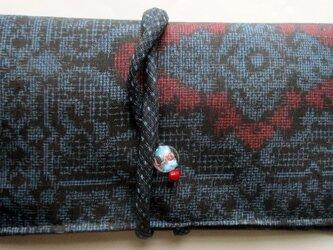 送料無料 大島紬で作った和風財布・ポーチ 3734の画像