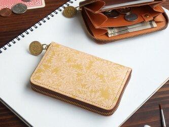 ラウンドファスナーミニ財布(ピースフル デイジー) 牛革  メンズ レディース ILL-1126の画像