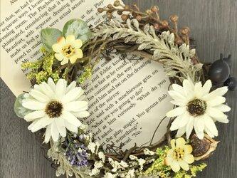 秋にぴったりなリース〜natural flower〜の画像