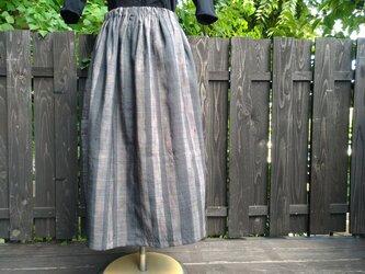 着物リメイクスカート 2枚の紬の着物からの画像
