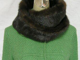 ¶ new antique fur ¶ ダークミンクファーゆったりnejiriスヌード「inoka」の画像