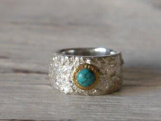 Turquoise ring (sv*brass)★ターコイズ★シルバー★リング★誕生石★天然石の画像