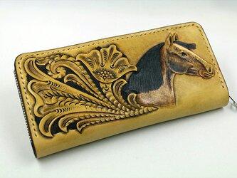 ファスナーウォレット(馬・タンカラー)の画像