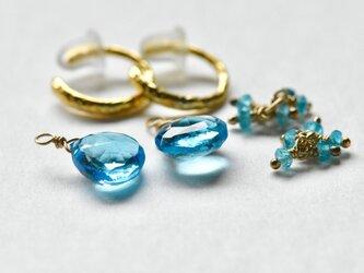 [EC] Ocean Blue Ear Clipsの画像