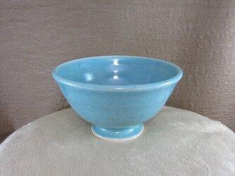 陶器ご飯茶碗(やや大)トルコ釉の画像
