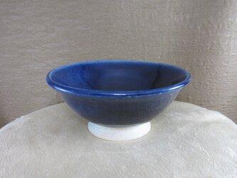 陶器ご飯茶碗(やや大)ルリ釉の画像