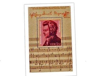 ドイツ未使用切手シート(モーツァルト)Germany  DA-STE117の画像