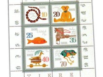 ドイツ未使用切手シート(昔のおもちゃ)Germany  DA-STE118の画像