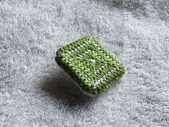 刺繍ブローチ(グリーン)の画像