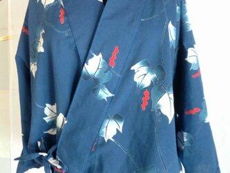 着物地リメイク  作務衣    1560の画像