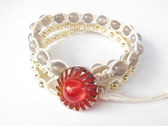wrap bracelet (red sun)の画像