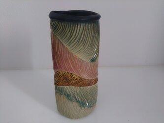 タタラ成形の花器の画像