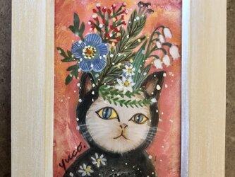 Crown Cat(テンペラ画)の画像
