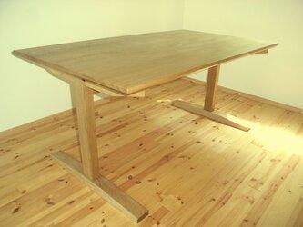 楢 ナラ テーブル シェーカータイプ 2本脚の画像