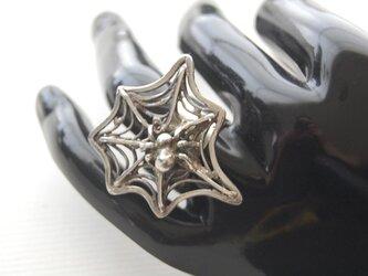 蜘蛛の巣の指輪 [SILVER950]の画像