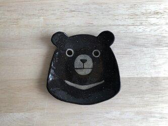 ツキノワグマ顔小皿の画像