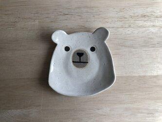 シロクマ顔小皿の画像