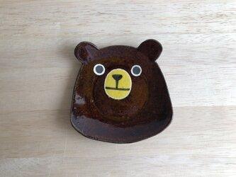 クマ顔小皿の画像