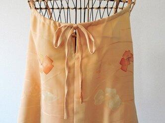 (SALE)着物リメイク オレンジ色のキャミソールブラウスの画像