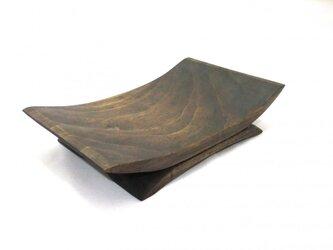 摺漆 楠の角皿の画像