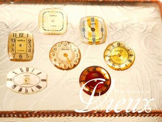 ヴィンテージ時計のブローチ  temps Ⅰの画像