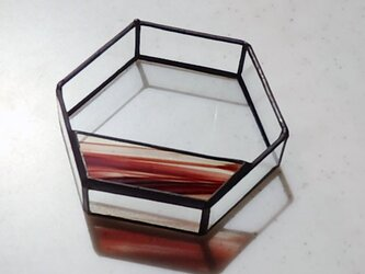 2通りの使い方が楽しめる  ステンドグラスの小物入れの画像