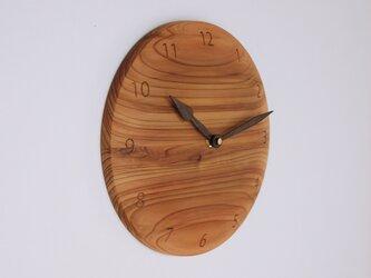 「ここあさまご注文品」木製 掛け時計 丸 杉材の画像